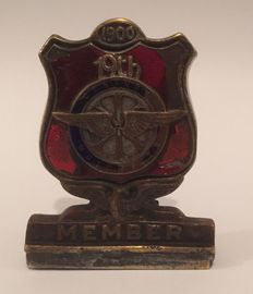 Very Rare 1900 19th century motorist members badge