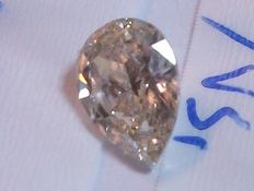 'Diamond' - fancy brownish orange - 0.70 ct - natural stone 100%