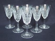 6 Saint Louis Crystal wine glasses, model Tarn - signed, France, 20th century.