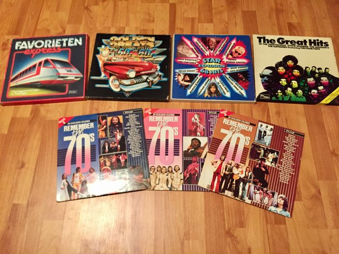 5 Favorieten 8 : Four rock n roll collector box sets total of 29 records: golden