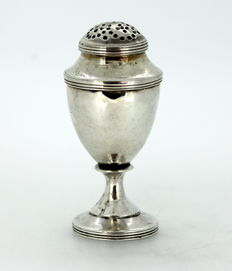 Solid Silver Salt / Pepper Shaker, Made in London 1800, By John Emes