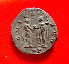 Roman Empire - Aurelian (270 - 275 A.D.) bronze antoninianus (3,85 g. 21 mm.) from Siscia mint, 271-272. IOVI CONSER. * P.