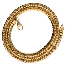 Yellow gold S-link necklace of 14 kt.