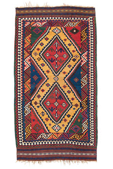 Antique, Qashqai kilim from Iran - late 19th century, 280 x 150 cm.