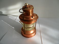 Copper bar lamps