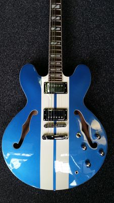 New Indie 2Tone Stripe Custom Blue with White Stripe, ES-335-model