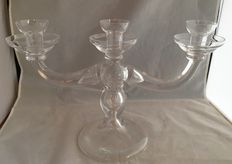 Large crystal candelabra with three arms