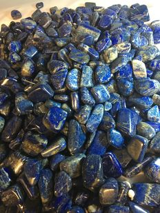 Hand-polished Lapis Lazuli tumblestones - 20 to 40 mm - 10000 gm