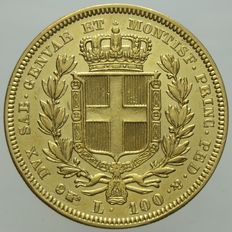 Kingdom of Sardinia – 100 Lire – 1835 – Turin – Charles Albert – Gold