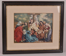Religious picture - signed and inspired by A. Embrechts