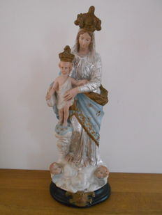 Beautiful plaster image of Notre dame des victoires - from 1910