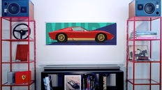 Painting on plexiglass - Lamborghini Miura
