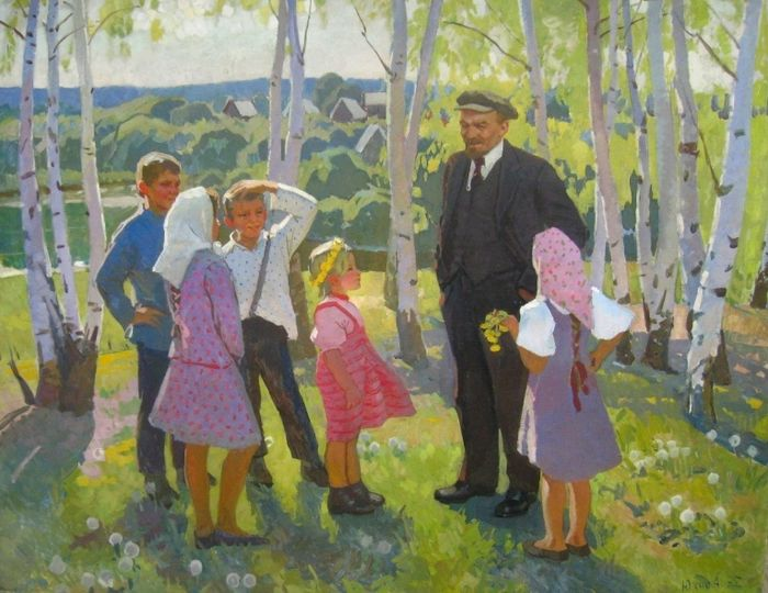 Anna Meerovna Gurevich-Yukhno - Lenin and children
