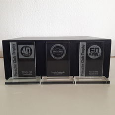 3 Porsche-Club glass display - 17.5 cm