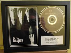 "The Beatles, framed photo and  CD disc. ""Twist and shout"""