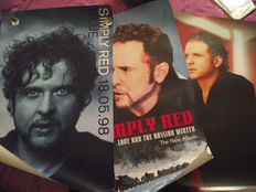 Three, Simply Red. Rare, UK 'in store' promotional posters.