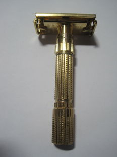 Gillette FATBOY - wet shaver / safety razor / razor - gold plated 24 ct - adjustable in 9 positions
