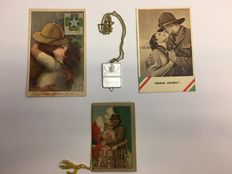 Lot with postcards, calendar and plate of the AFRICAN WAR 1935