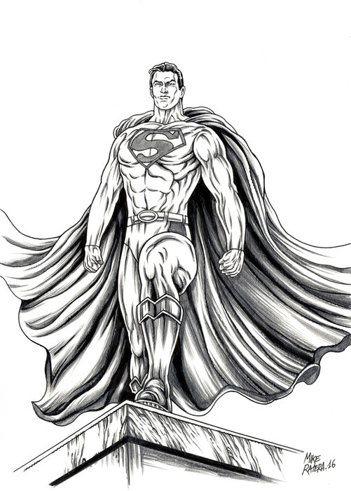 Ratera Mike Original Drawing Superman Catawiki Learn how to draw superman cartoon pictures using these outlines or print just for coloring. ratera mike original drawing