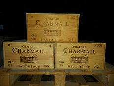 2004 Chateau Charmail, Haut-Medoc - 36 Bottles in closed Original Wooden Cases