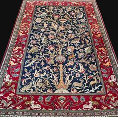 Superior 'Tree of Life' Ghom, wool with silk - 220 x 140 - in very good condition - with certificate