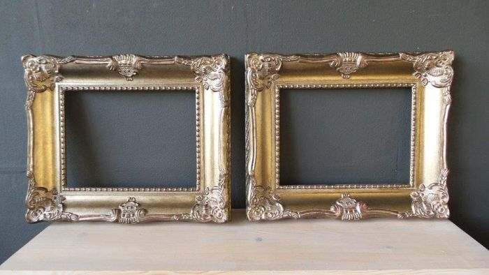 Two Gilded Picture Frames With Beautiful Ornaments 30 X 40 Cm
