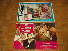 James Bond. Agente 007. Dr. No + From Russia with Love - Two original italian posters / fotobusta - 45x70cm - Sean Connery