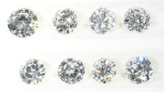 Parcel: 8 brilliant cut diamonds total 0.981 ct F-I vs-si