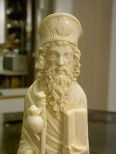 Statue of St. Jacques in ivory - probably Dieppe, France - ca. 1870-1900