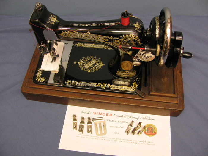 Singer Sewing Machine From 40 Catawiki Beauteous 1935 Singer Sewing Machine