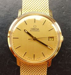 Omega vintage gold strap elegant men's wristwatch from 1975