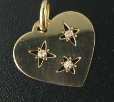 18 kt Gold Pendant with Diamonds.