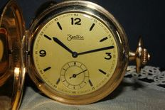 Zentra – Gold-laminated pocket watch – 1920s.