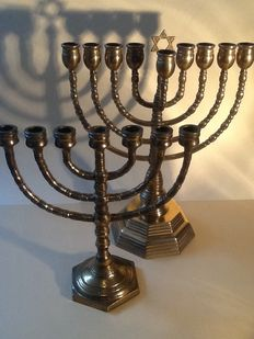 Hanukkah and a Menorah of copper - previous century