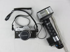 Canon FT QL camera with lens and METZ 45 CT-1 flash