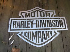 Large Harley Davidson advertising sign - stainless steel -second half of the 20th century