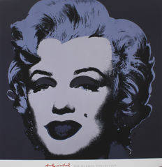 Andy Warhol (after) - Marilyn Monroe Black