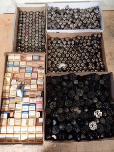 Large lot of TV and radio tubes