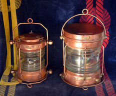 Pair of naval lanterns of the early 20th century