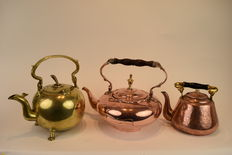 Three old teapots - 19th/20th century