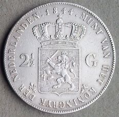 Netherlands – 2½ gulden 1844 Willem II – silver