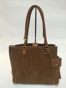 Malucchi - Superb leather bag for carrying a small dog.