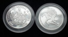 Peru - Set of two silver coins - 5000 Soles 1982 - Soccer World Cup