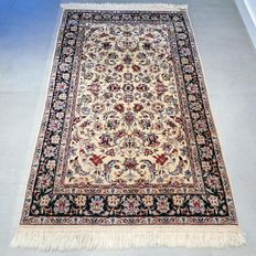 Wonderful, detailed, Persian,  Isfahan carpet made of wool – approx. 1,000,000 knots/m² – 155 x 70 cm.