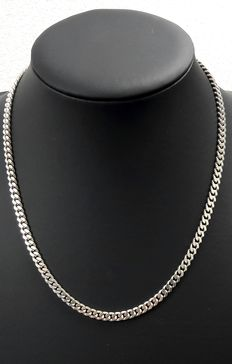 Silver curb link necklace, 925k