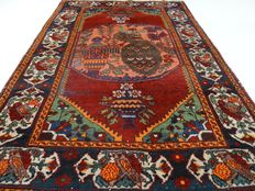 """Semi-antique Sarough - 199 x 135 cm - """"Exclusive, impressive Persian rug with many detail in good condition"""" - Note! No reserve price: starts at €1.-"""