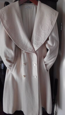 Gil Bret - Mantle / overcoat Wool / Cashmere Cream Colour.