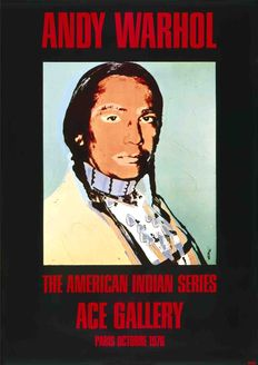 Andy Warhol - American Indian (Black)
