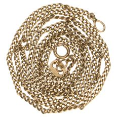 14 kt yellow gold curb link necklace – Length: 48 cm