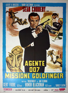 James Bond 007 Goldfinger - 100 x 140 cm - Sean Connery - Original Italian poster